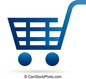 shopping, esperto, carreta