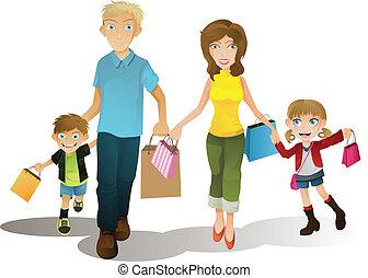 shopping, família