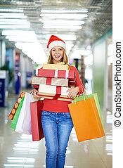 shopping, felice