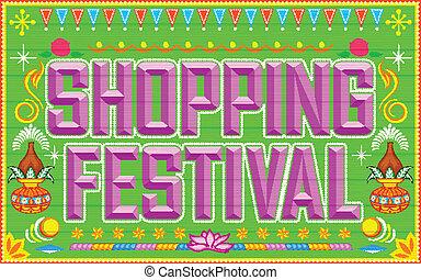 Shopping Festival - illustration of shopping festival...