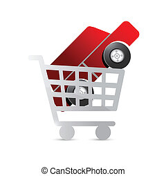 shopping for a car concept illustration
