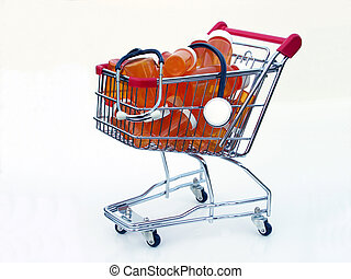 Shopping for health care (side view) - Miniature shopping...