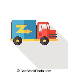 shopping freight transport flat icon