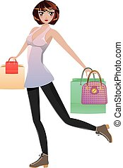 Shopping Girl with Bags