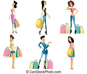 Shopping girls set