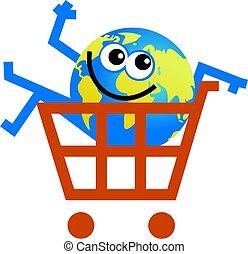 shopping globe