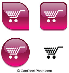 Shopping glossy button.