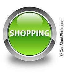 Shopping glossy green round button