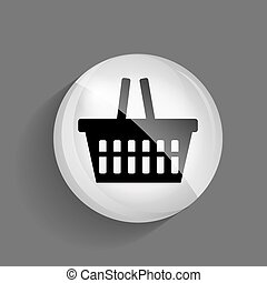 Shopping Glossy Icon Vector Illustration