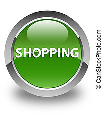 Shopping glossy soft green round button