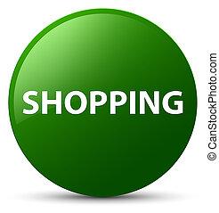Shopping green round button