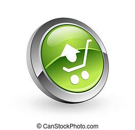 Shopping - Green sphere button
