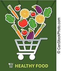 shopping healthy food. healthy food