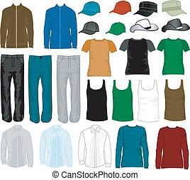 shopping, homens, -, moda