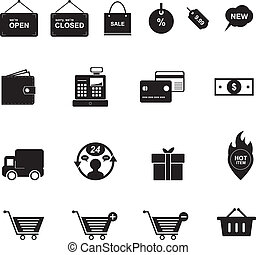 Shopping Icon Black and White