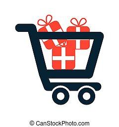 shopping icon design, vector illustration eps10 graphic