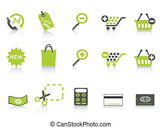 shopping icon green series