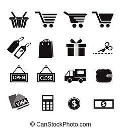 Shopping Icon Set.