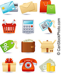 Shopping icon - Vector illustration - shopping icon set