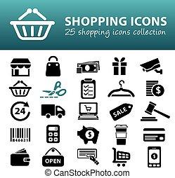 shopping, icone