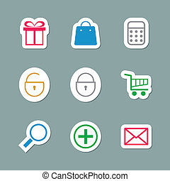 Shopping Icons as Labes