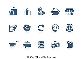 Shopping icons - Piccolo series