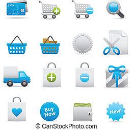 Shopping Icons Set | Indigo 01