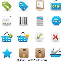 Shopping Icons Set | Indigo 02