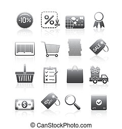 Shopping Icons Silhouette Series