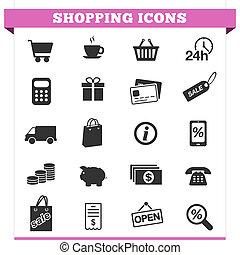 Shopping Icons Vector Set
