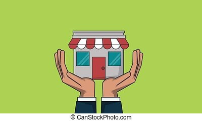 Shopping in store HD animation