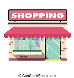 Shopping Infographic Pink Shopping Store Background Vector...