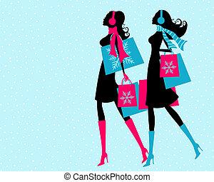 shopping, inverno