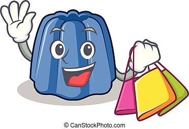 Shopping jelly character cartoon style vector illustration