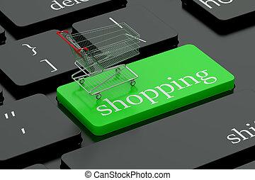 Shopping keyboard button