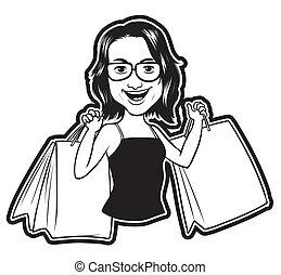 shopping kvinde