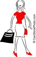 Shopping - lady shopping