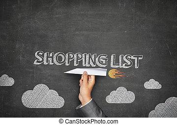 Shopping list concept
