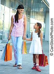 shopping, mãe