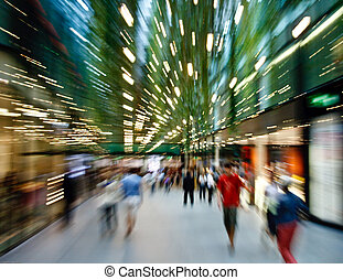 shopping makes me dizzy - Zoomed shot from a shopping mall...
