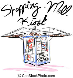 Shopping Mall Kiosk - An image of a shopping mall kiosk.