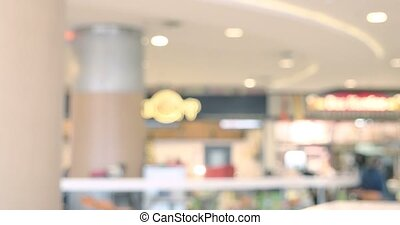 Shopping mall or department store food court, modern trade...