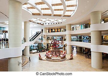 Shopping mall - HONG KONG - FEBRUARY 22: Shopping mall...