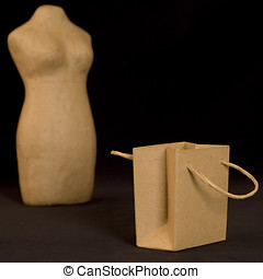 shopping - mannequin and paper bag