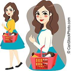 Shopping Market Girl