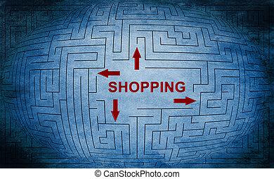 Shopping maze concept