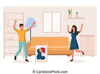 shopping, mobília, teia, site web, vetorial, página, conceito, bandeira