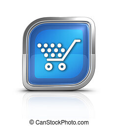 Shopping Money Time Blue Icon Sign