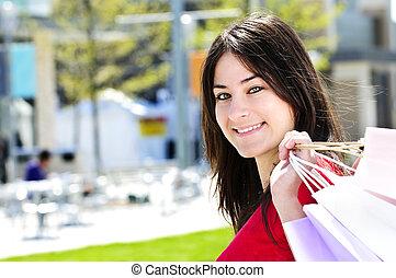 shopping mulher, jovem