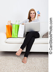 shopping mulher, online